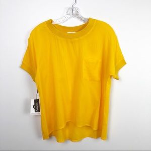 Callahan Pocket Tee Shirt Yellow Size XS